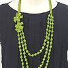 flower necklace *yellow green